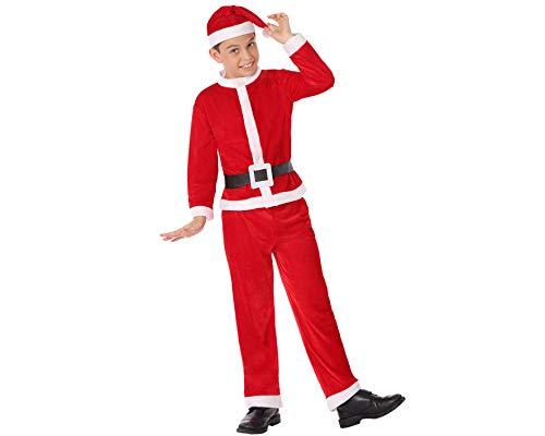 ATOSA disfraz papa noel niño infantil rojo 5 a 6 años