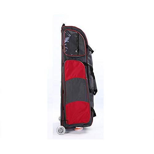 LPing Oxford Tuch Schwerttasche Fechten Wagentragbares Rad,Multi-Pocket-Design,Walze mit Stahlrahmen,Wasserdicht und langlebig,Geeignet Sabre,Degen,Folie,Fechtausrüstung