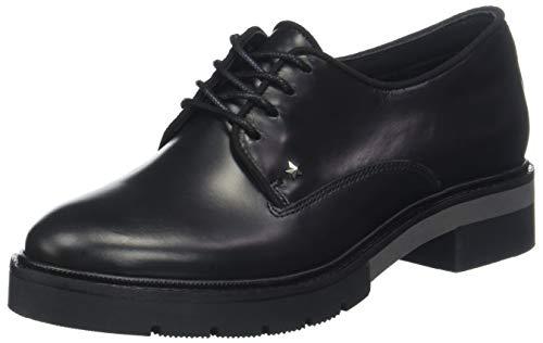 Tommy Hilfiger Metallic Leather Lace Up, Scarpe Stringate Derby Donna, Nero (Black 990), 40 EU