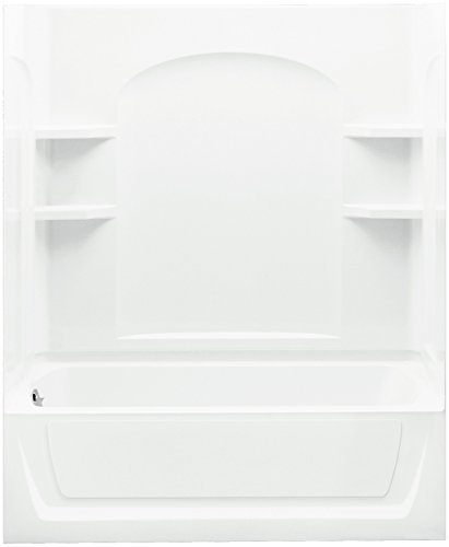 STERLING 71220117-0 Ensemble Bath and Shower Kit, 60-Inch x 32-Inch x 74-Inch, Left-Hand, White -  Sterling Plumbing
