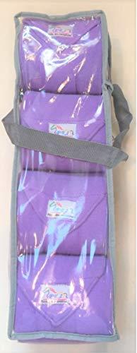 Set of Four Fleece Polo Wraps, Lilac/Lavender, Horse Size