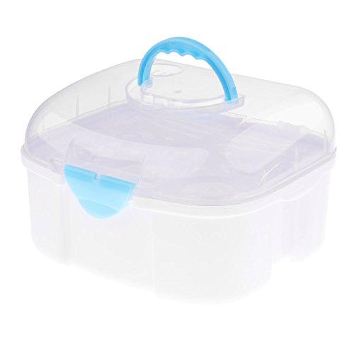 Amuzocity Babyflasche Aufbewahrungsbox Flasche Trockengestell Flaschenbox für Milchflaschen - Blau