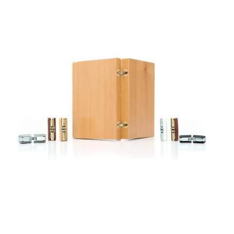 Bisagra cilíndrica embutida Jicaclick para mesa de libro diámetro 12, bisagra para...