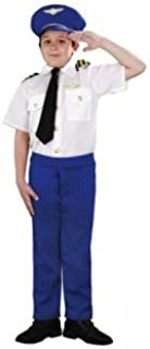 Disfraz de piloto de avión infantil - Talla - 7-9 años: Amazon.es ...