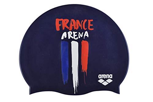 Arena Flags Silicone cap, Cuffie da Nuoto Unisex Adulto, Blu (France), Taglia Unica