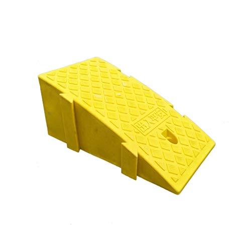 Xzg1-Ramp XUZgag - Rampas de seguridad portátil de plástico para uso en interiores y exteriores, rampas de umbral de altura: 16-19 cm, almohadilla de seguridad cuesta arriba, plástico, Amarillo, 25*44*19CM