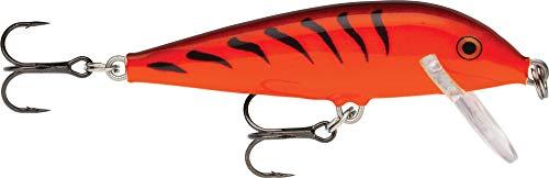 Köder mit Haken Zwei Nr. 10, 0.9-1.8m Schwimmtiefe, 5cm Größe, Orangentiger