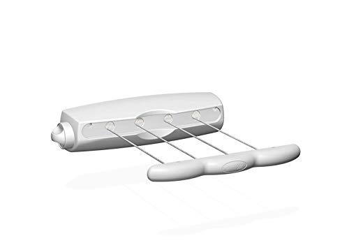 Gimi - Tendedero Rotor 4 Balcón, resina, color blanco