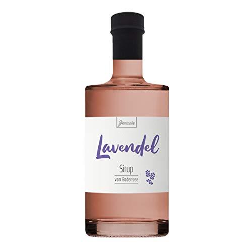Lavendelblüten-Sirup 700ml - Genüssle Lavendelsirup vom Bodensee - Lavendelsirup aus echten heimischen Lavendel - natürlich ohne Zusatzstoffe
