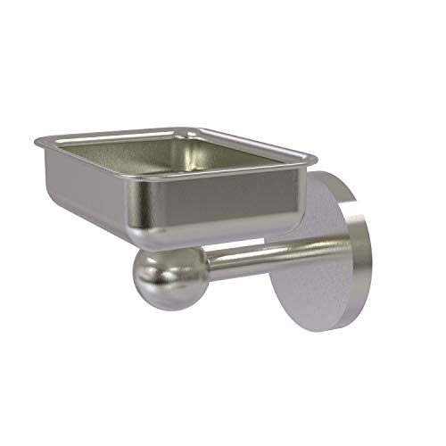 Allied Brass 1032 Skyline Collection Wall Mounted Soap Dish, Satin Nickel