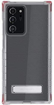Ghostek Covert Note20 Ultra Case Clear Silicone with Metal Kickstand Slim Fit Design with Heavy Duty Military Grade Shockproof Wireless Charging Cover 2020 Galaxy Note 20 Ultra 5G  6.9 Inch  -  Clear