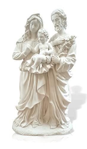 Figura escayola Sagrada Familia tamaño Grande 46 cm. de Altura. Escultura para Pintar en Manualidades o decoración de hogar