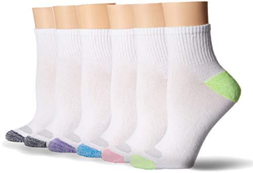 Hanes Damen Socken Ankle Socks - Schwarz -