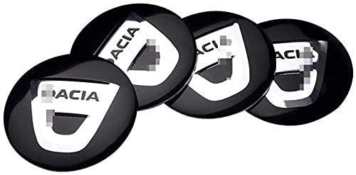 4 Piezas 56mm Coche Tapas Centrales De Llantas,Para Dacia Duster Logan Sandero Lodgy,Con Logo De Coche Centrales, De Rueda Resistente Al Agua Y Al Polvo,Tapas De Cubo Dedecorativa Accesorios De Estilo