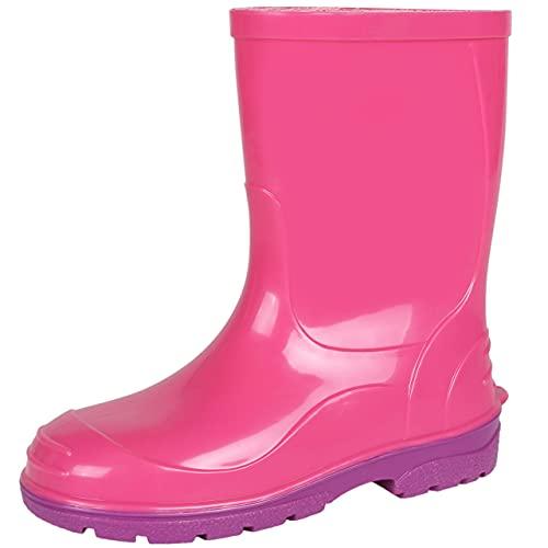 Botas de agua de color rosa con suela violeta Oli LEMIGO 28 EU
