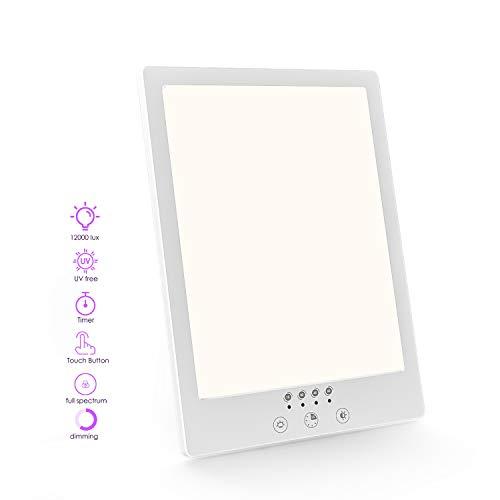 Nertpow Lampe de Luminothérapie 12000 Lux, LED sans UV avec...