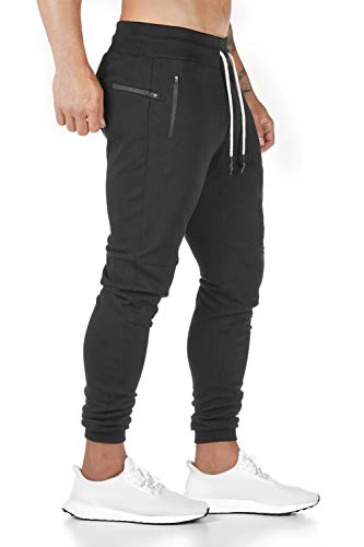 Davicher Pantalones de Deporte Jogger para Hombre Casual Jogging Algodón Hombre Pantalones...