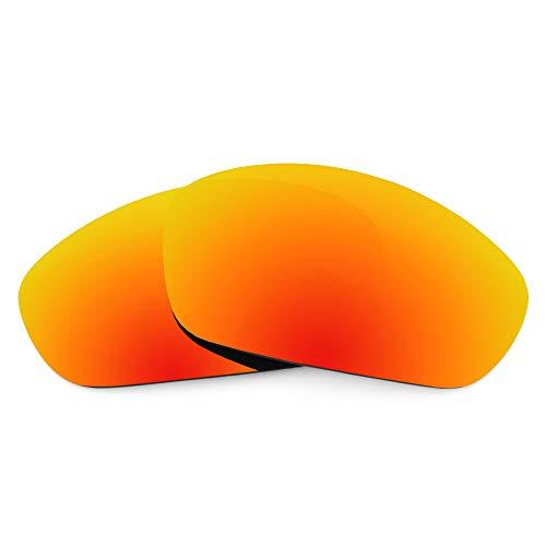 Revant Revant Ersatzgläser Kompatibel mit Oakley Straight Jacket (2007), Nichtpolarisiert, Feuerrot MirrorShield