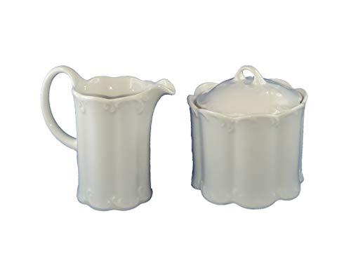 Monbijou Rosenthal Classic Rose weiß Milch- & Zuckerdose