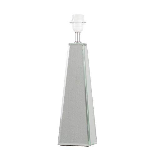 Large Modern Polished Chrome & Mirrored Table Lamp Base