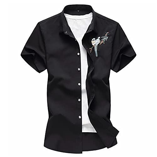 Camisa Hombre Verano Moda Cardigan Slim Fit Modernos Hombre Shirt Moderna Tendencia Impresión Hombre Manga Corta Diario Casual Vacaciones All-Match Hombre Casuales Camisa