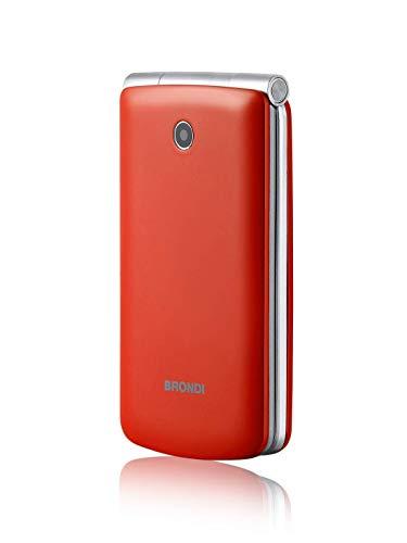 Brondi Magnum 3 Telefono Cellulare, Tastiera Fisica, Rosso, Chiuso: 109x58x19 mm