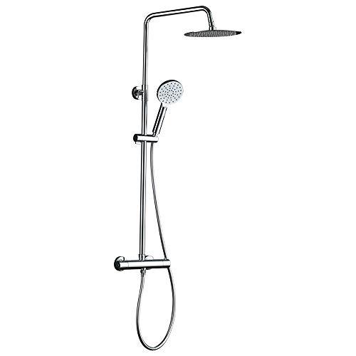 GRIFEMA G7003 - Umna termostática ducha Latón, Plástico, ABS, Metal, Acero inoxidable, Plata