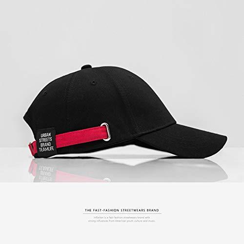 sdssup Markenzeichen Europa und die Rue der USA Kontrast schwarz und rot mit gebogenem Hut Baseballkappe für Männer und Frauen, schwarz, one Size