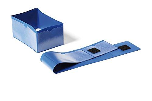 Durable 172407 palletvoetbandjes (145 x 75 mm, met klittenbandsluiting, 4-zijdig beschrijfbaar) pak à 50 stuks donkerblauw