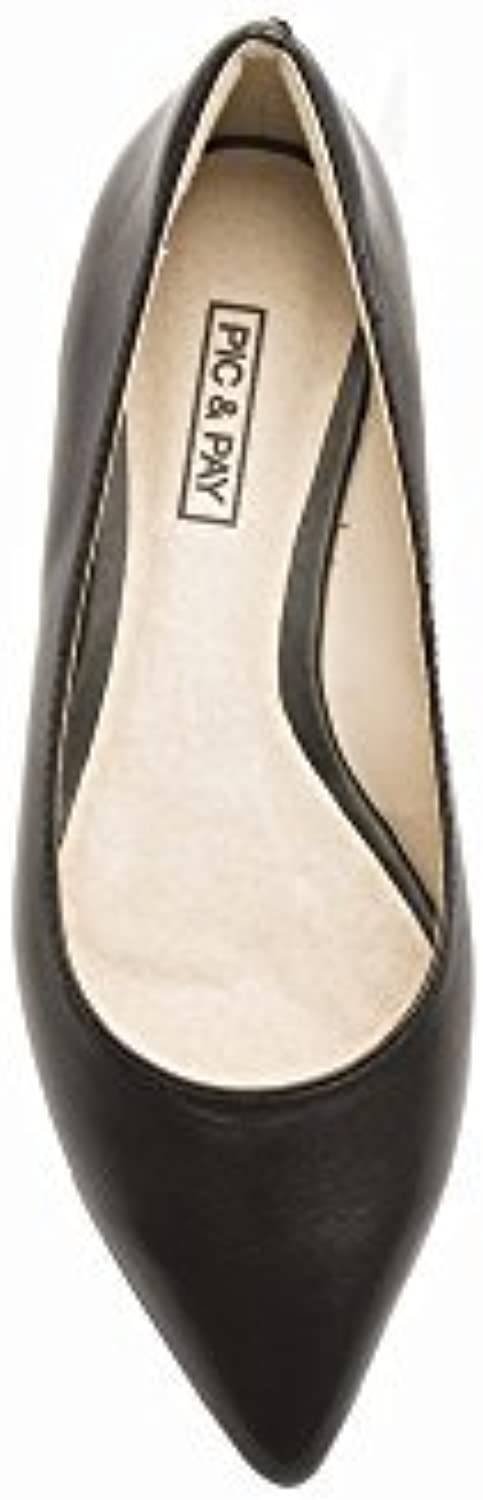 Pic Pay Adelia Women's Flats - Pointy Toe Flat Black Leather 8.5M