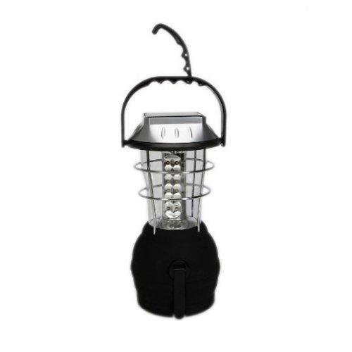 Smarstar 36 LED luce da campeggio, Ultra brillante, ricaricabile, dinamo a manovella luce di tenda-Lampada a energia solare 1 (3) moda, colore: nero