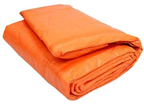 6' x 24' Concrete Curing Blanket - 3/16' Thick PE Coated Foam Core - Ultra Strong 8x8 Woven Poly Tarpaulin - Orange