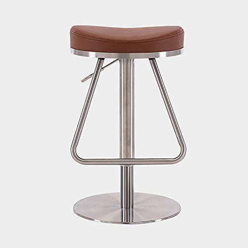 WKLIANGYUANPING Bar Stools Bar Chairs Kitchen Stool Barstool Seat Adjust 57-82cm (Color : Khaki)
