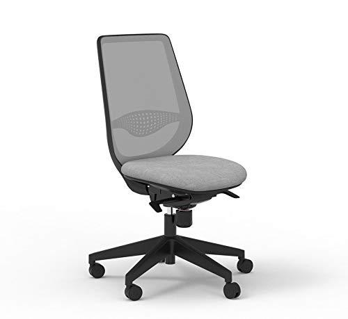 Silla de oficina con respaldo gris y asiento gris (gris)