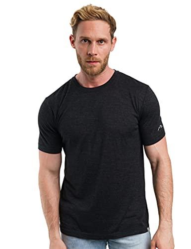 Merino.tech 100% Organic Merino Wool Lightweight Men's T-Shirt (Charcoal, XLarge)