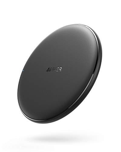 Anker PowerWave Wireless Charger Ladepad, Kabelloses 10W Ladegerät, Qi-Zertifiziert, Kompatibel mit iphone 11/11 Pro/11 Pro max/XR/XS/X/8,10W Schnellladungen, Samsung Galaxy S10/S9 / S9+ /S8/S8+ usw.