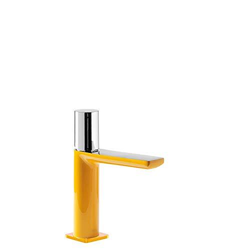 Monomando lavabo Loft Colors, volante, 15,4 x 4 x 18,5 centímetros, color ámbar cromo (Referencia: 20010302AM)