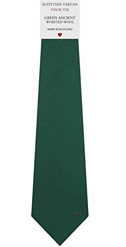 I Luv Ltd Cravate en Laine pour Homme Tissée et Fabriquée en Ecosse à Plain Ancient Green