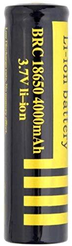 Anillo Solar Anillo 18 * 65 mm 3 7V 4000mAh Batería Recargable de Litio Recargable para la batería de la Linterna de 18 * 65 mm (2 Piezas)
