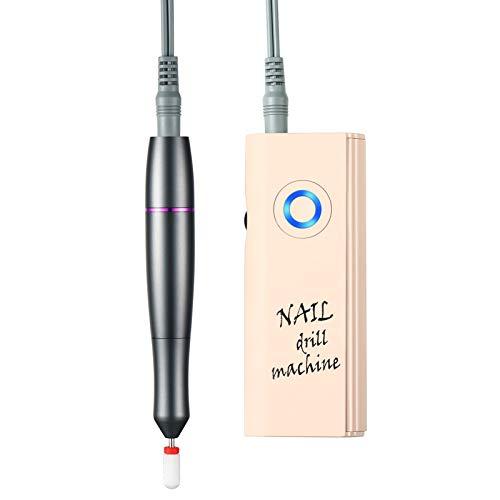 Torno para Uñas Profesional eléctrica Fresa de uñas Cuidado dispositivo 30000 rpm Acrílico o de Gel para Manicura y Pedicura con 1 Brocas Ideal para Salón de Belleza y Casa,Rosado
