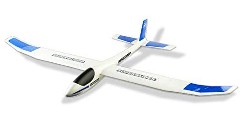 Ninco NH92024 Nincoair-Avion planeador Super Glider. 1200 mm de alas. 120x84x16cm, color blanco y azul