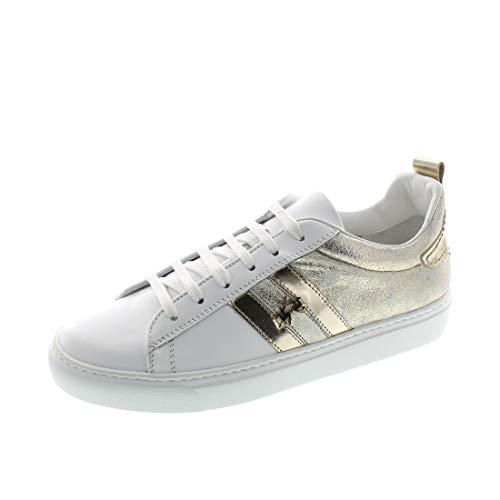 La Martina Damenschuhe - Sneaker LFW201562 - Bianco Platino, Schuhgröße:40