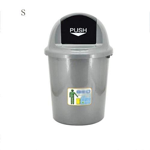 Afval- en recycling-afvalemmer, kunststof afvalemmer voor het oppersen van kantoor, thuis, commercial, hotel, tube, opslag, vuilnisemmer, vuilnisemmer, afval, oud papier container, binnen- en buitenopslag klein.