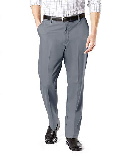 Dockers Men s Classic Fit Signature Khaki Lux Cotton Stretch Pants  burma grey  42W x 30L