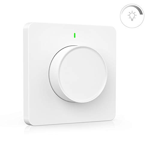 Alexa Dimmer Maxcio, Smart Wlan Lichtschalter, WiFi LED Dimmer Schalter Rotate Dimming, kompatibel mit Alexa/Google Home, APP Fernbedienung, Smart Switch mit Timer, Alexa Zubehör für Smart Home