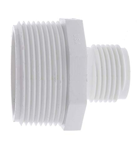 """Van Enterprises PVC Garden Hose Adapter (Male 1.5"""" NPT x 3/4"""" GHT) for Sump Pump. [Available 1.25"""" and 1.5"""" NPT Hose adapters]"""
