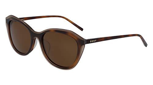DKNY DK508S Occhiali da sole, Brown/Brown Tortoise, 48 Donna