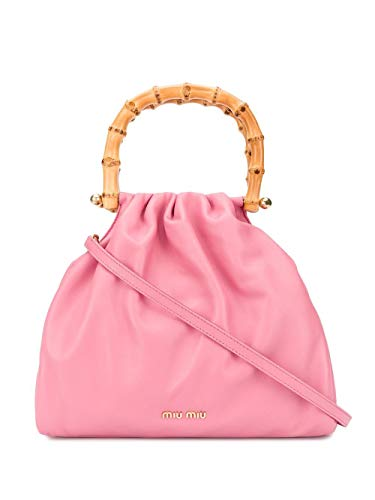 Miu Miu Luxury Fashion Damen 5BA177VBOO2C9MF0638 Rosa Leder Handtaschen | Frühling Sommer 20