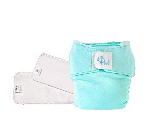PSS! POCKET Waschbare und ökologische Windeln - Easy Kit mit einem Wechseln, mit Abnehmbarem Einsatz - 1 farbige Verkleidung und 2 aufsaugenden Windeln - Made in Italy
