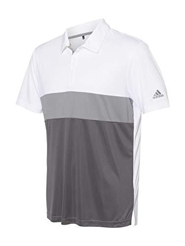 Merch Block - Camiseta deportiva para hombre (A236), color blanco y gris, talla 4XL